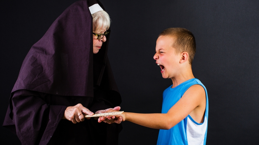 nun smacks child